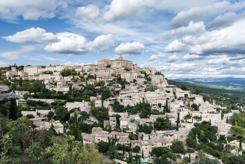 Gordes, uno el pueblo más hermoso de Francia fotografía de archivo libre de regalías