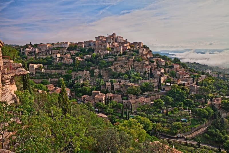 Gordes, Vaucluse, Provence, France: landscape of the medieval vi stock image