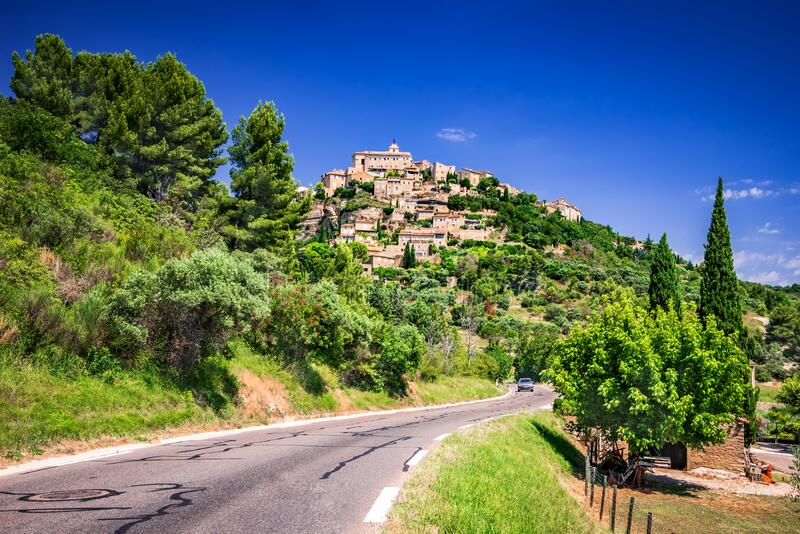 Gordes - Vaucluse region in Provence, France royalty free stock photos
