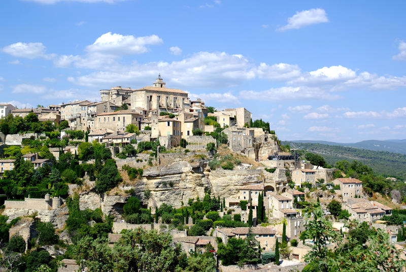 Download Gordes village stock image. Image of europe, rock, vacations - 11660947