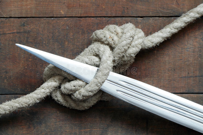 Download Gordian Knot stock photo. Image of problem, rope, sharp - 13145788
