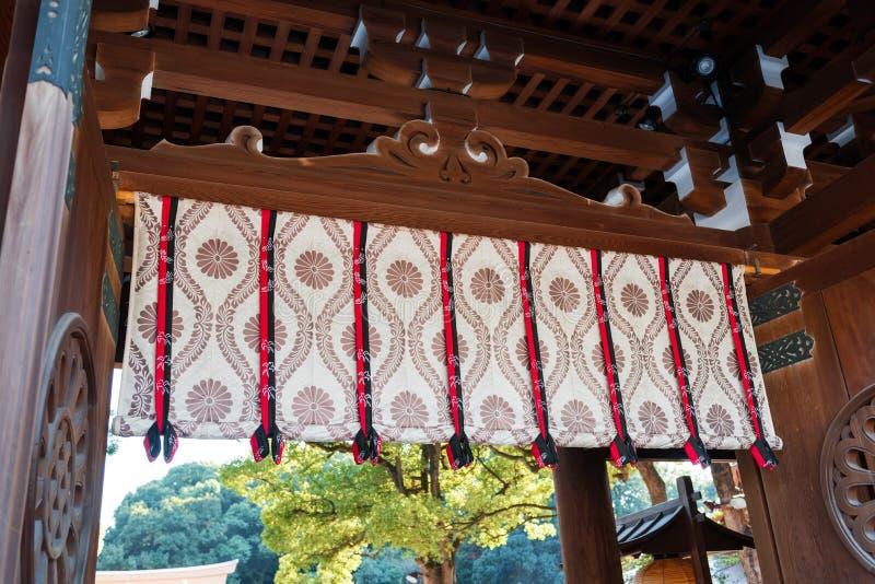 Gordijn in de tempel meiji-Schrein Close-up royalty-vrije stock fotografie