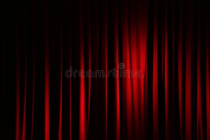 Gordijn in een theater stock afbeeldingen