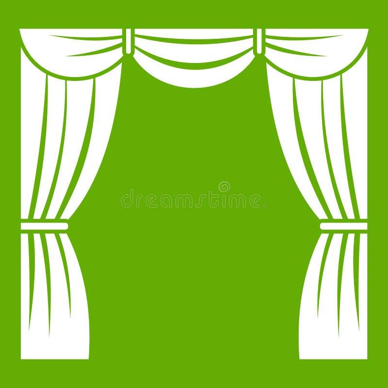 Download Gordijn Op Groen Stadiumpictogram Vector Illustratie - Illustratie bestaande uit geïsoleerd, achtergrond: 107708684