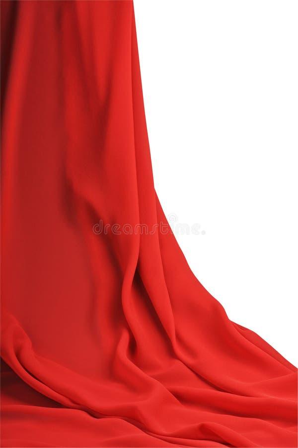 Gordijn rode stof royalty-vrije stock foto