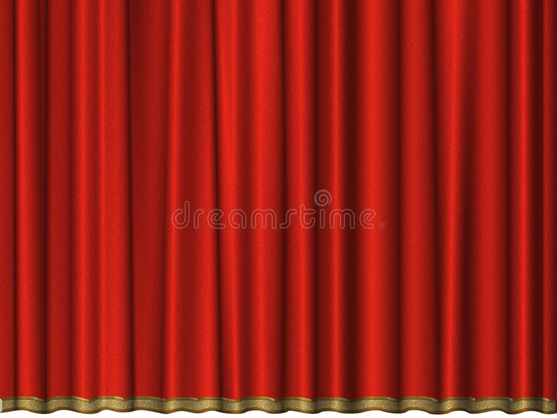 Gordijn van rood fluweel royalty-vrije illustratie