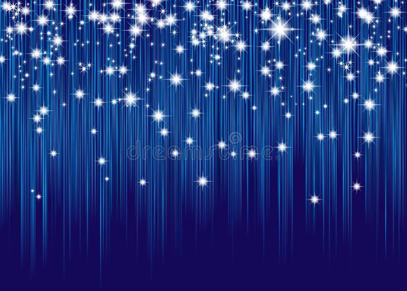 Gordijn van sterren stock illustratie. Illustratie bestaande uit ...