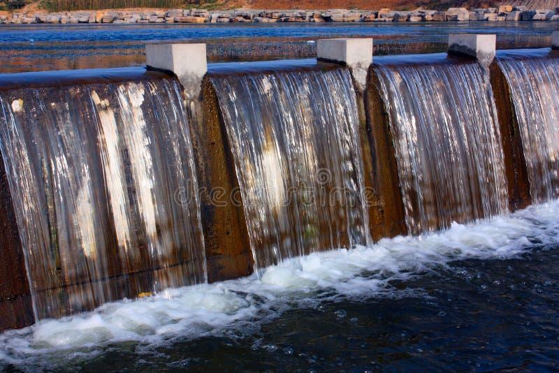 Gordijn van water stock fotografie