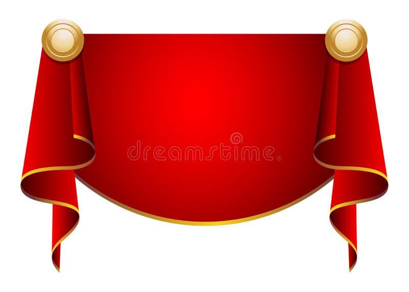 Gordijnen royalty-vrije illustratie