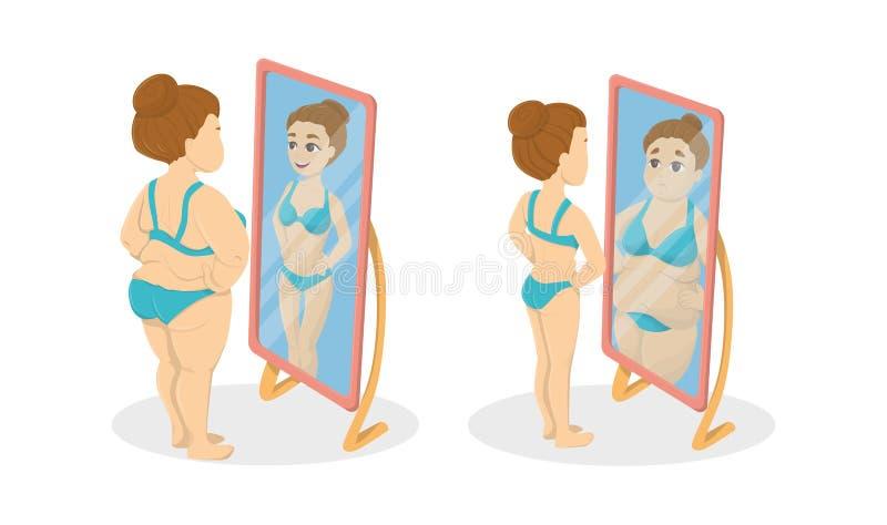 Gordo y flaco stock de ilustración