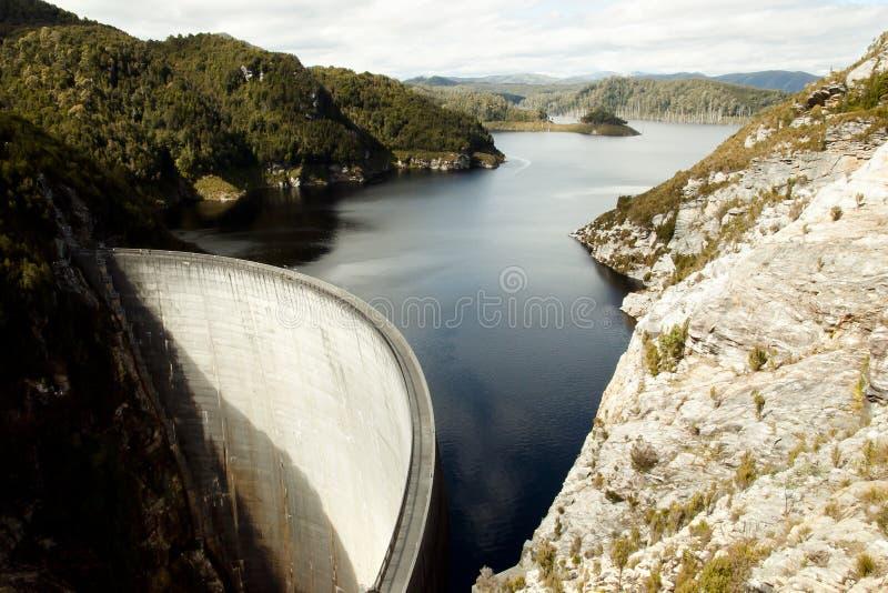 Gordon Dam - Tasmanien - Australien royaltyfri fotografi