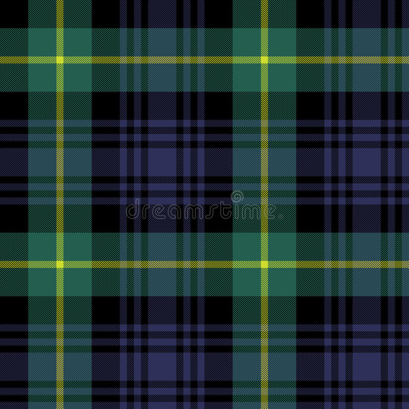 Gordon tartanu tkaniny tekstury szkockiej kraty wzór bezszwowy ilustracja wektor