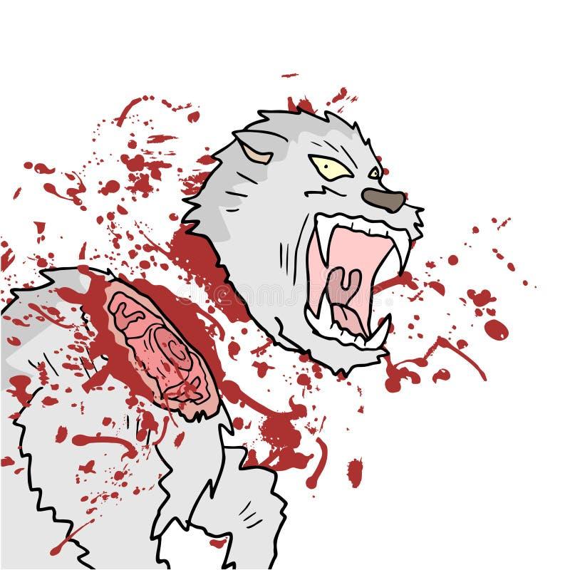 Gore dierlijke scène vector illustratie