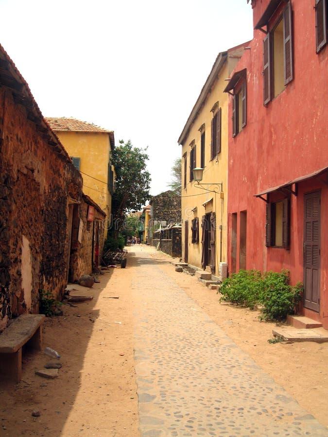 Gore-Inselstraße - Senegal lizenzfreie stockfotos