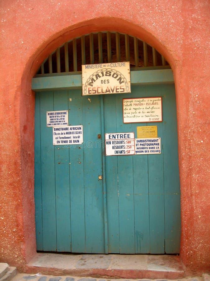 Goree ö - slav- hus - Senegal arkivbilder