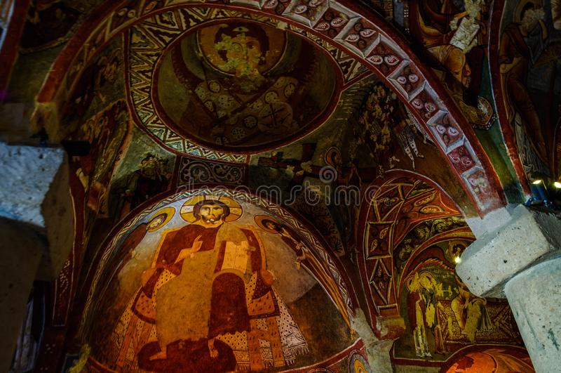 Goreme露天博物馆, Kapadokya,土耳其 免版税库存照片