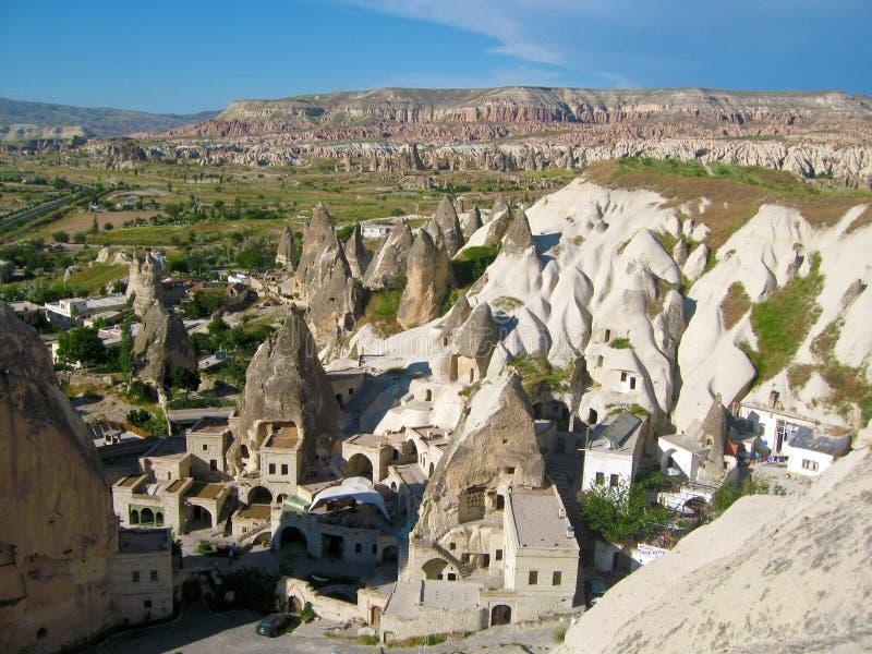 Goreme in Cappadocia stockbilder