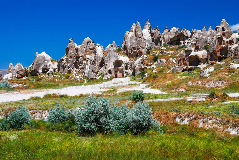 Goreme, Cappadocia in Turkey stock photography