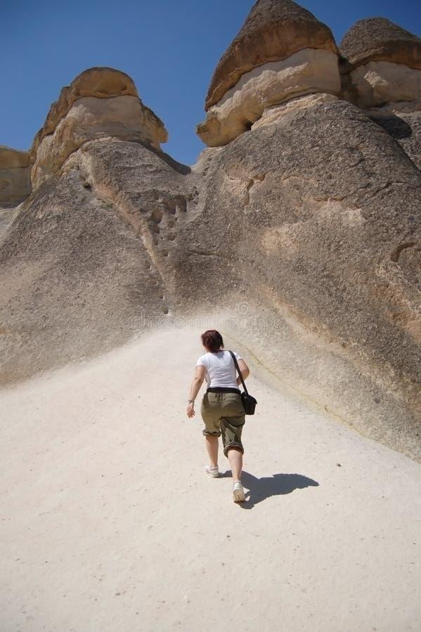 Goreme - de Schoorstenen van de Fee, Cappadocia royalty-vrije stock afbeelding