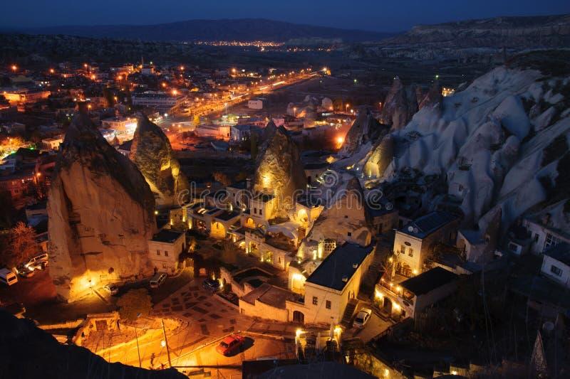 Download Goreme at night stock image. Image of lights, turkey - 28476447
