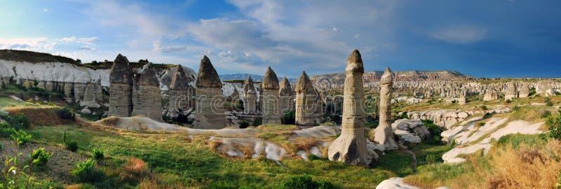 Goreme panorama in Turkey stock photos