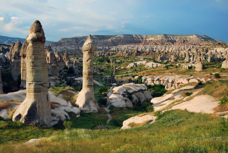 Goreme panorama in Turkey royalty free stock image