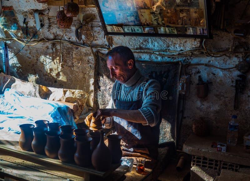 goreme park narodowy Cappadocia podróż Ceramiczna wycieczka Anatolia fotografia stock