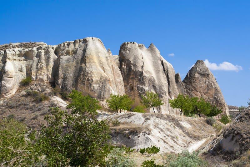 Goremelandschap in Cappadocia stock afbeelding