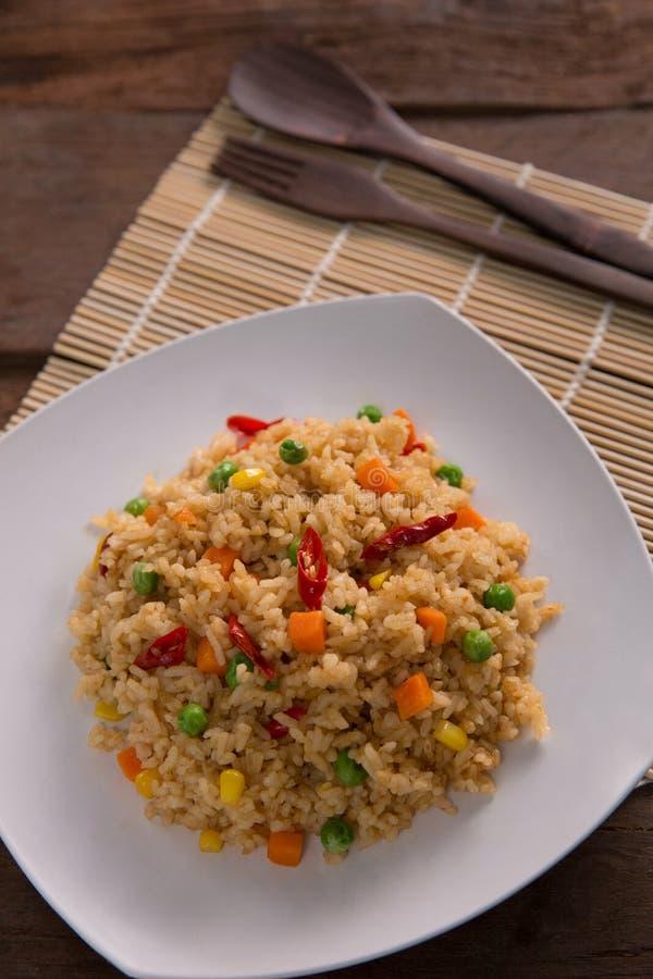Goreng или жареные рисы Nasi стоковое изображение rf