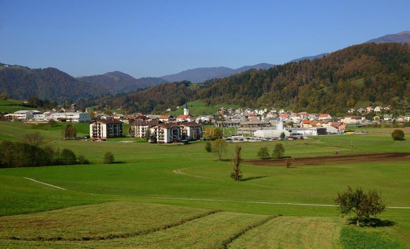 Gorenja vas, Gorenja wioska/, Slovenia zdjęcie royalty free