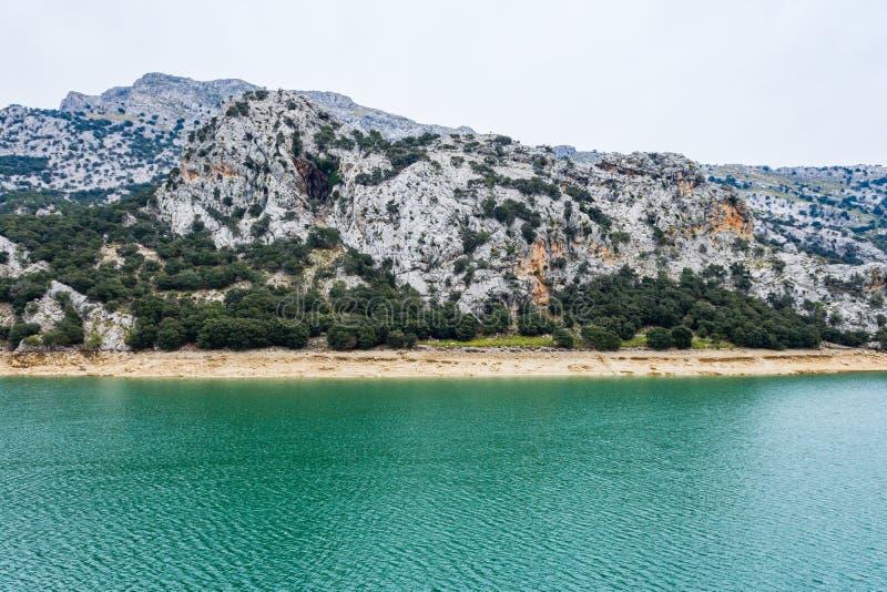 Gorg Blau湖,马略卡 库存图片