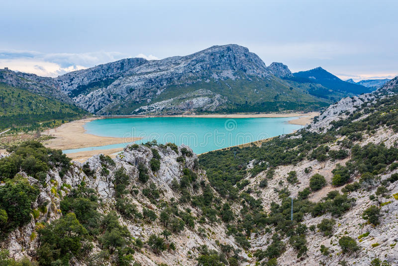 Gorg Blau湖,马略卡 免版税库存图片