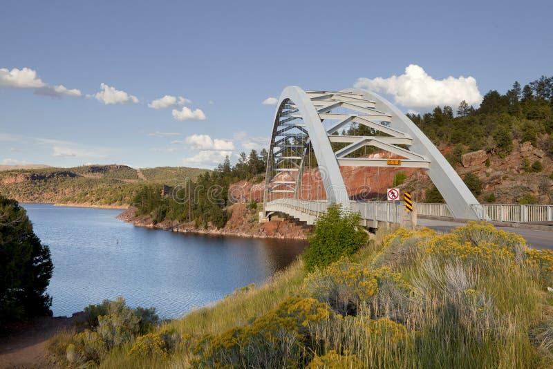 gorge Юта заводи тележки моста пламенеющий стоковые изображения