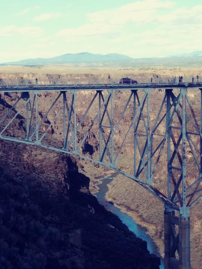 The Gorge Bridge. Gorge Bridge Taos, NM. Overwhelming feelings of astonishment when you see how beautiful this is place is royalty free stock image