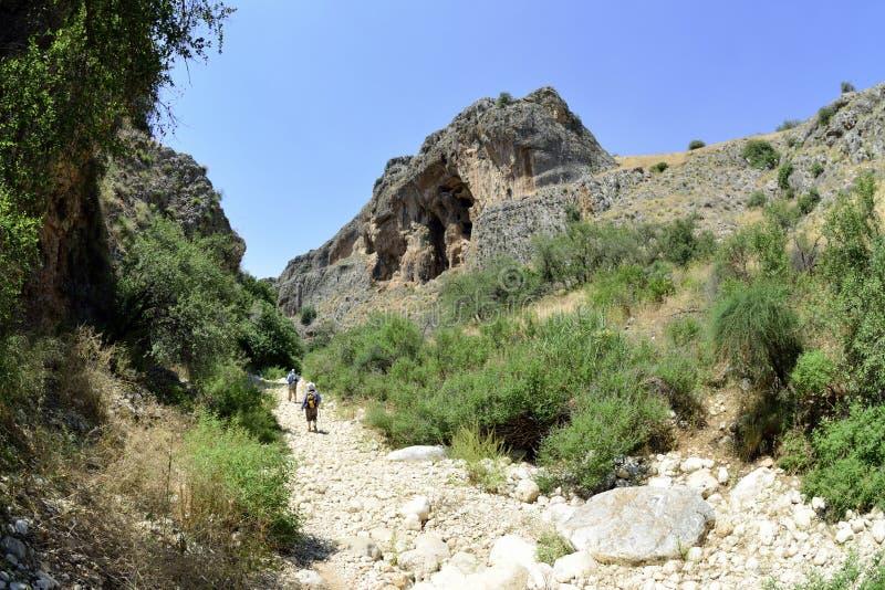 Gorge d'Amud en Galilée, Israël photographie stock
