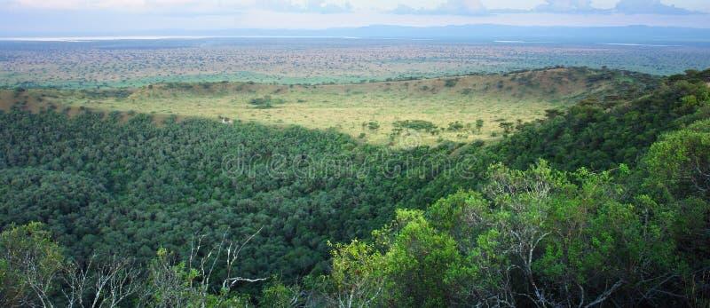 Gorge de Chambura en Afrique photographie stock