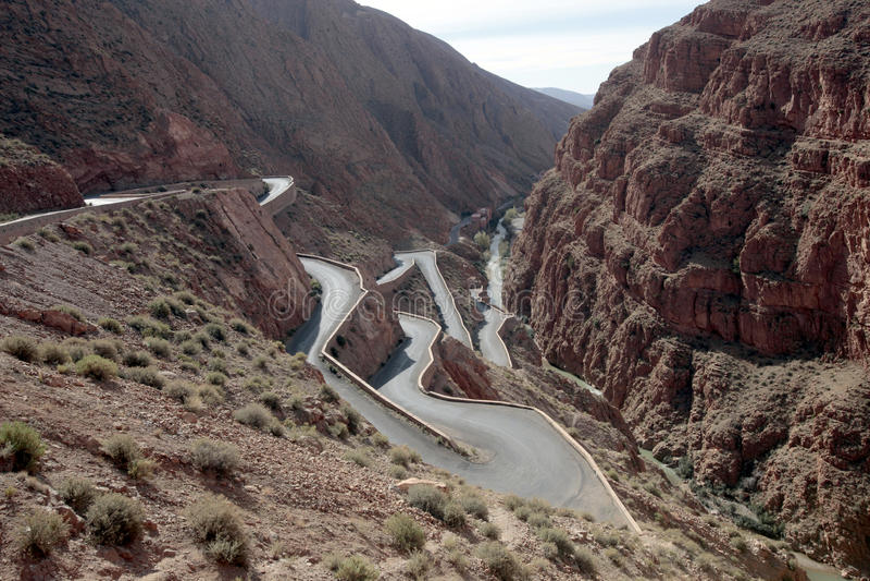 Gorge de Dades, Maroc photo libre de droits