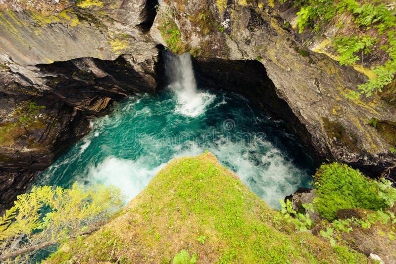 Gorge de Gudbrandsjuvet en Norvège image libre de droits