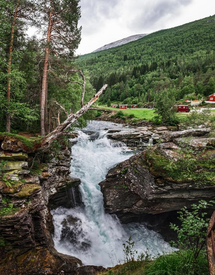 Gorge de Gudbrandsjuvet en Norvège images libres de droits