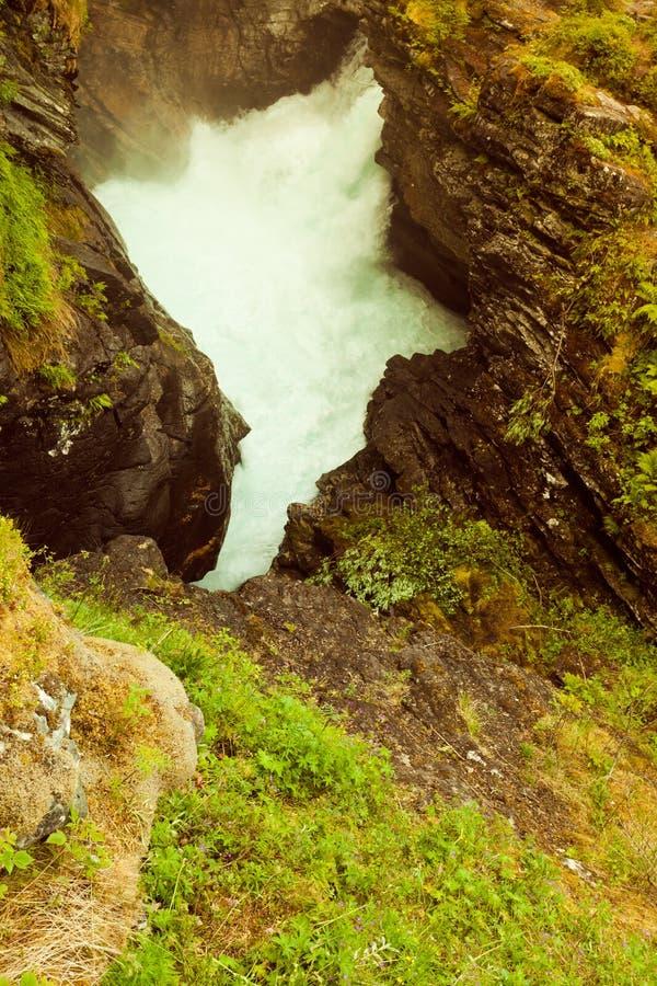 Gorge de Gudbrandsjuvet en Norvège photographie stock