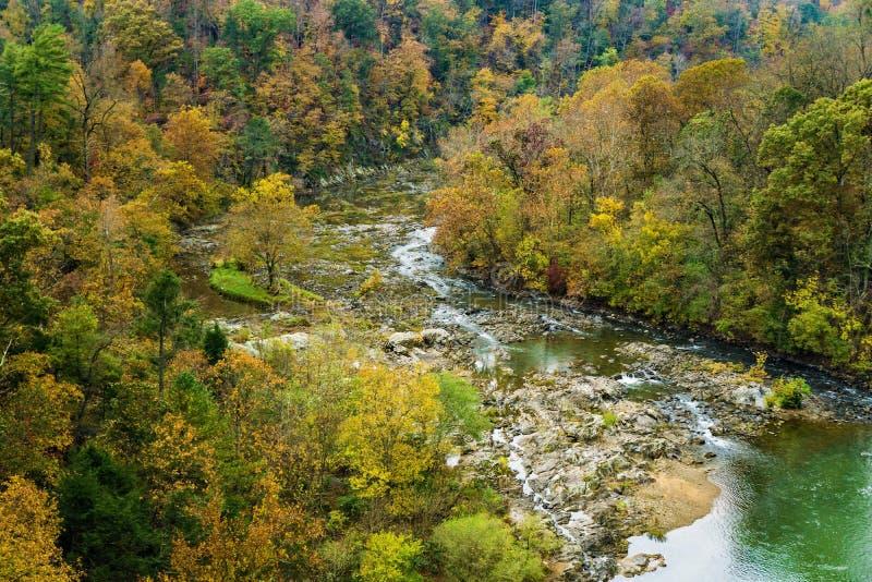Gorge de la rivière Roanoke photos stock