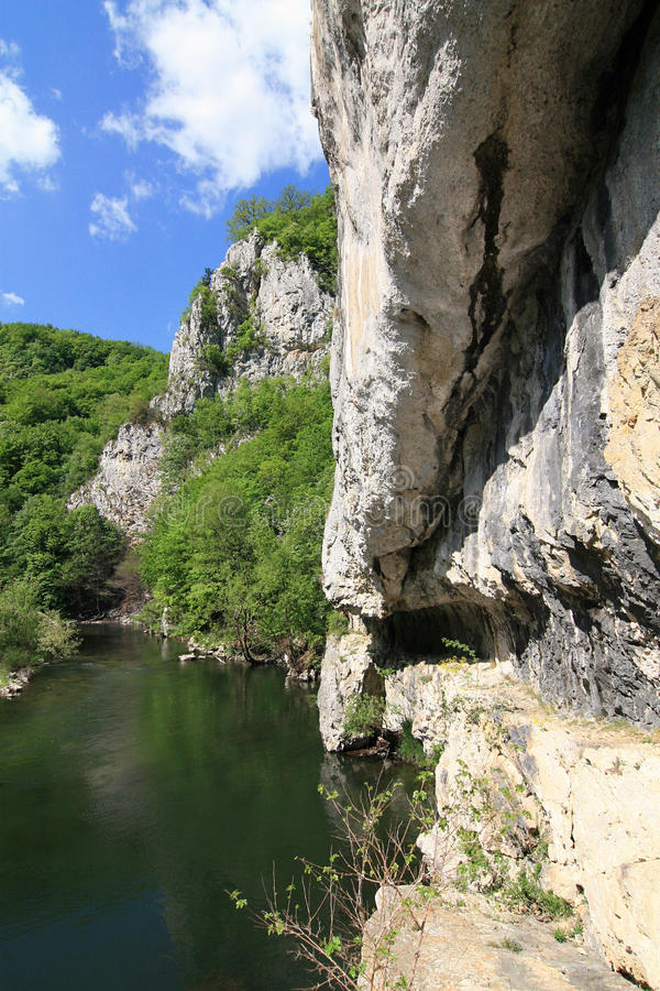 Gorge de Nera, Roumanie photo stock