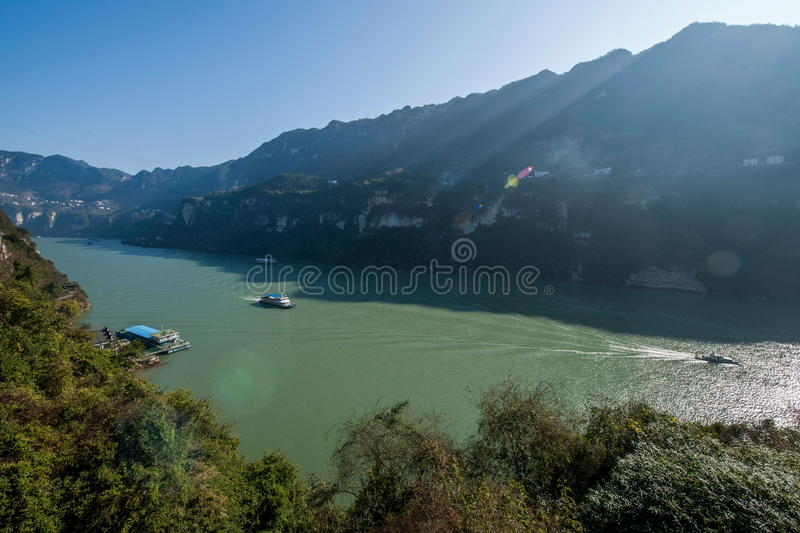 Gorge de Yiling le fleuve Yangtze Three Gorges Dengying photos libres de droits