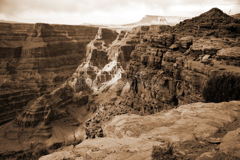 Gorge grande, Arizona, Etats-Unis image stock