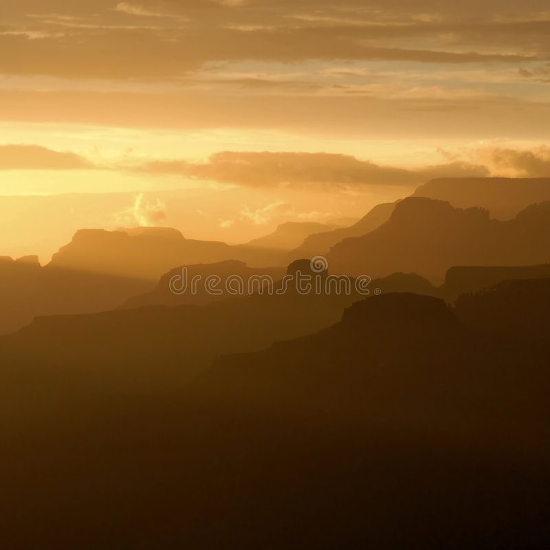 Gorge grande au coucher du soleil images stock