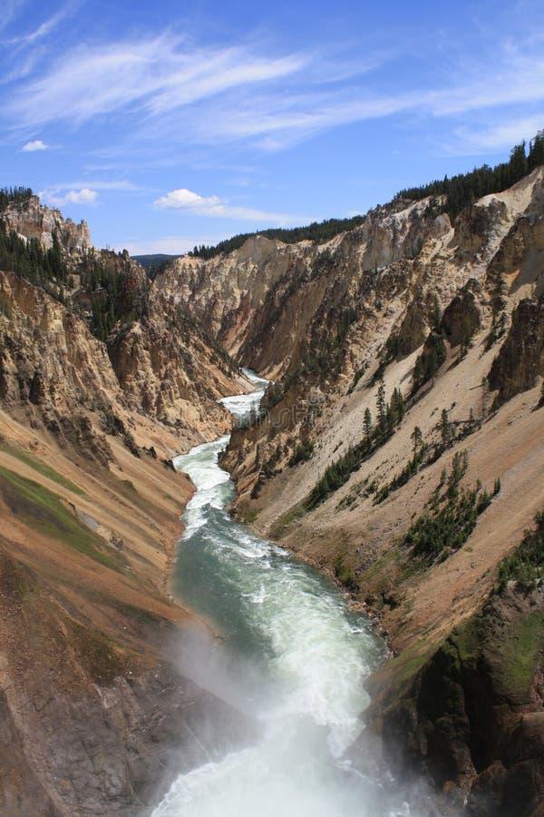 Gorge grande de stationnement national de Yellowstone images stock