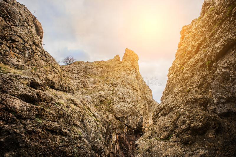gorge in the mountains royalty free stock photo