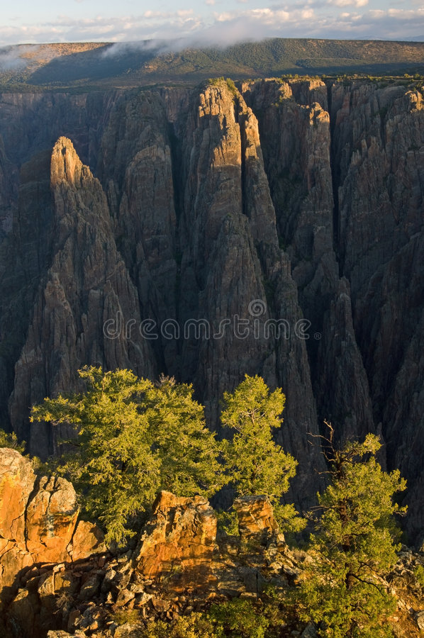 Gorge noire du Gunnison photos stock