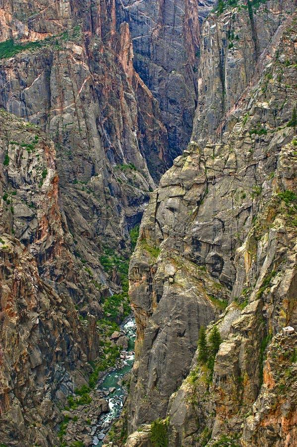 Gorge noire du Gunnison, vue de fleuve images libres de droits