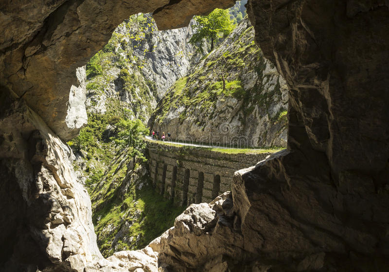 Gorge of River Cares in Asturias royalty free stock images